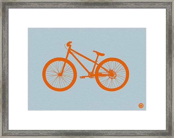 Orange Bicycle  Framed Print