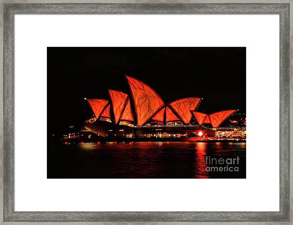 Orange Blast Framed Print
