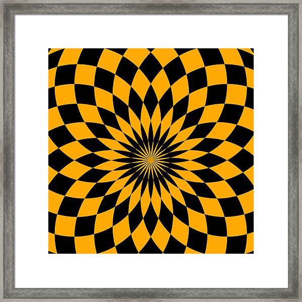 Orange Energy Framed Print