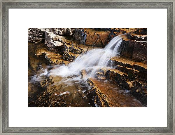 Orange Falls Framed Print