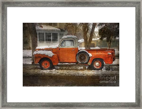 Orange Ford 150 Framed Print