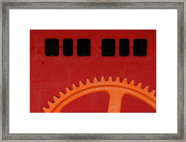 Orange Gear 1 Framed Print