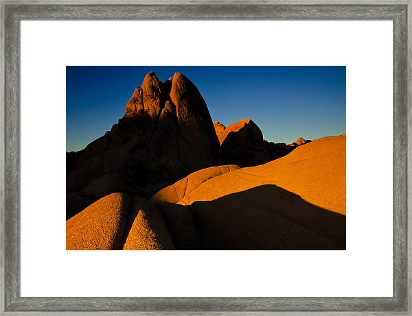 Orange Ghosts Framed Print