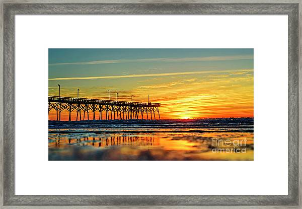 Framed Print featuring the photograph Orange Glow by DJA Images