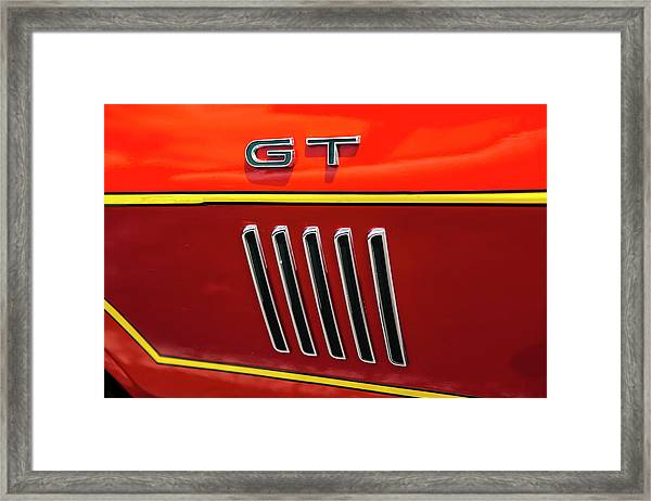 Orange Gt Framed Print