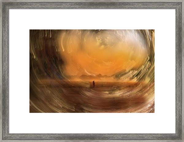 Orange Gust Framed Print
