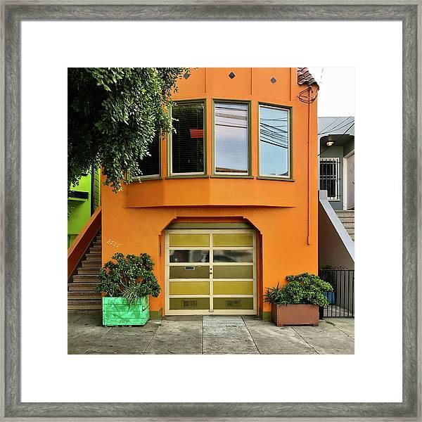 Orange House Framed Print