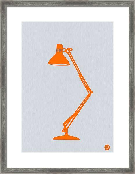 Orange Lamp Framed Print