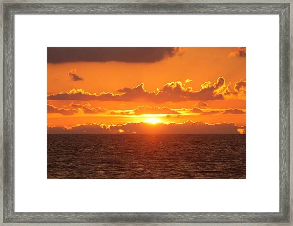 Orange Skies At Dawn Framed Print