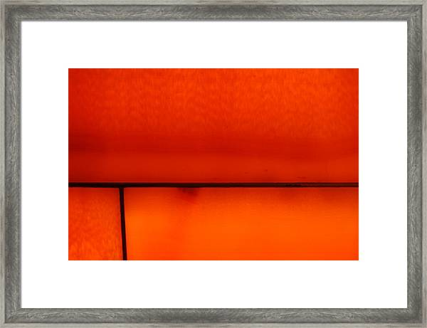 Orange Stone 4 Framed Print