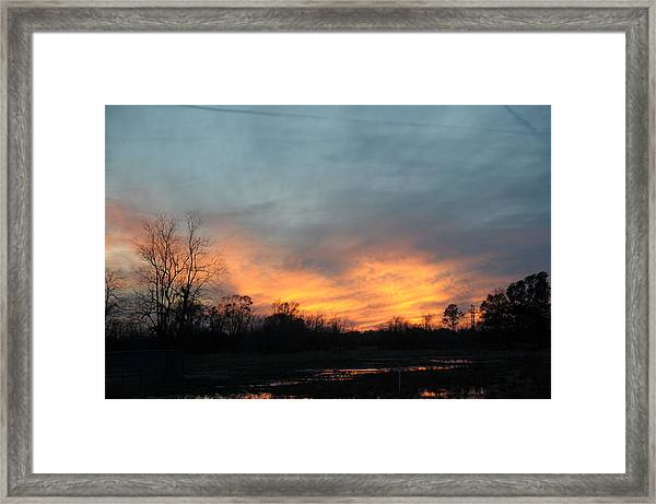 Orange Sunset Framed Print by Bill Perry