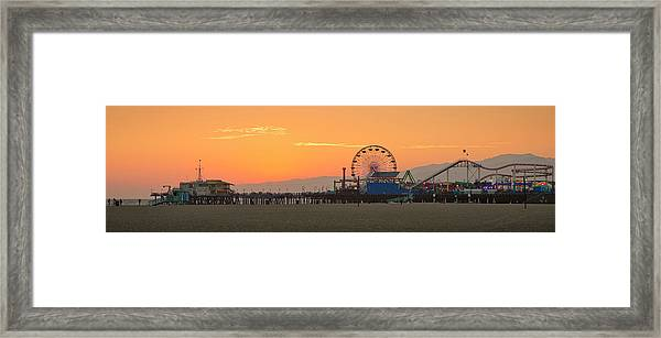 Orange Sunset - Panorama Framed Print