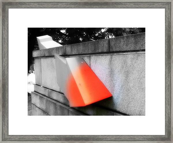 Orange Tipped Arrow Framed Print