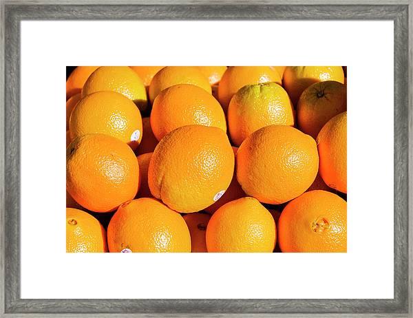 Oranges Framed Print