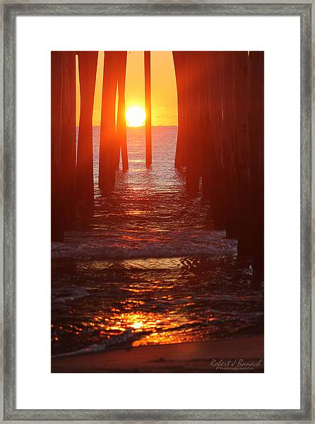 Orb On The Water Framed Print