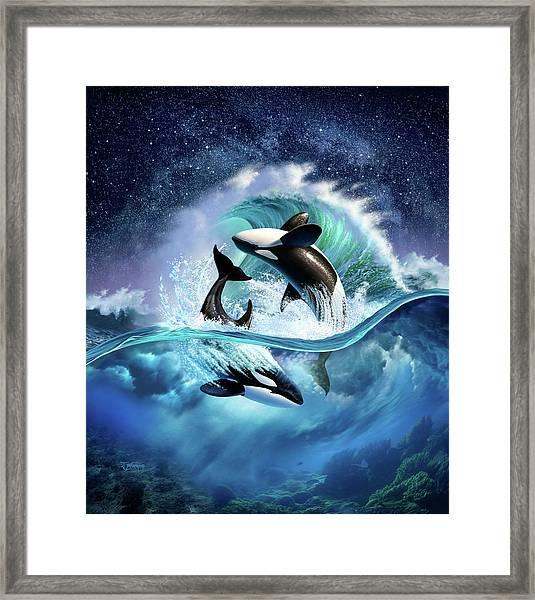Orca Wave Framed Print