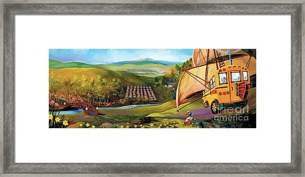 Orchard Valley Framed Print