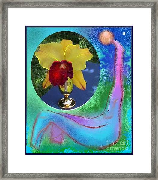 Orchid Keeper Framed Print