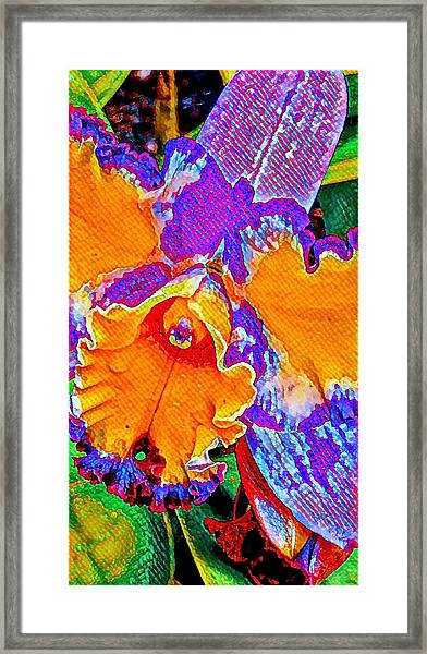 Orchid Psychedelic Framed Print