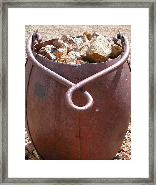 Framed Print featuring the photograph Ore Bucket by Joseph R Luciano