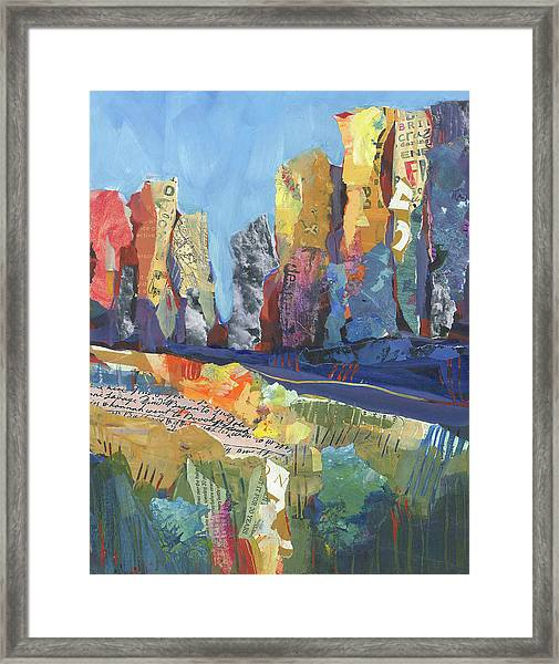 Framed Print featuring the painting Oregon Canyon by Shelli Walters