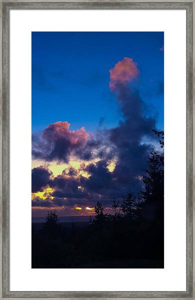 Oregon Coast Clouds Framed Print
