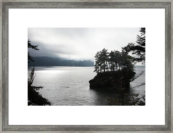 Oregon Coast Fog Framed Print