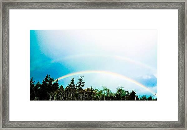 Oregon Double Rainbow Framed Print