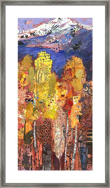 Framed Print featuring the painting Oregon Enchantment by Shelli Walters