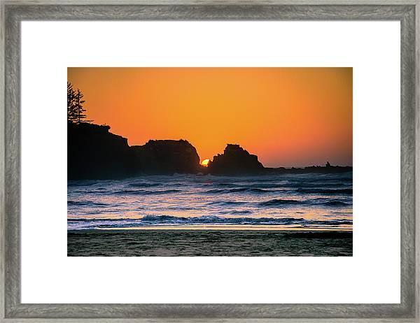 Oregon Sunset Framed Print
