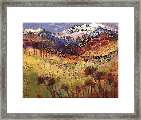 Framed Print featuring the painting Oregon Untouched by Shelli Walters