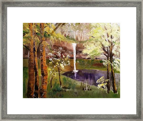 Oregon Waterfall Framed Print