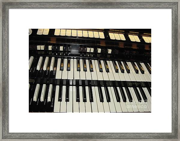 Hammond Organ Keys Framed Print