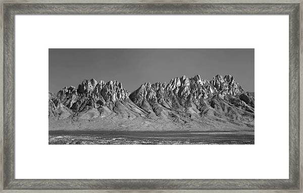 214878-organ Mountains Panorama     Framed Print