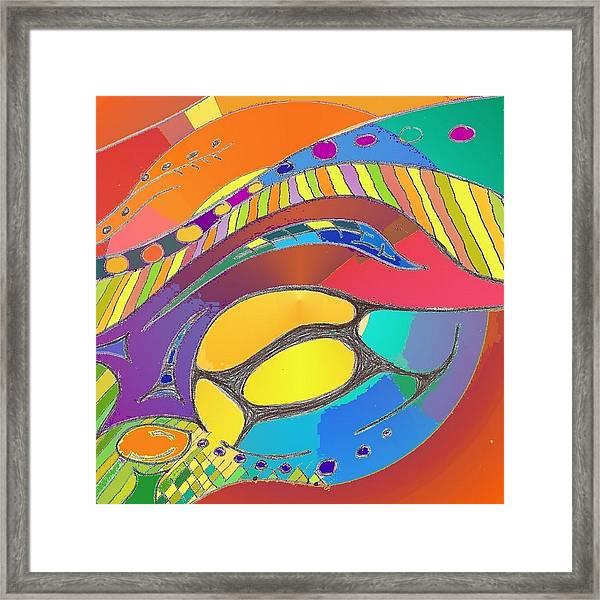 Organic Life Scan Or Cellular Light - Original, Square Framed Print