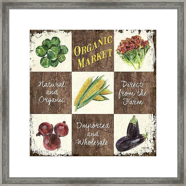 Organic Market Patch Framed Print