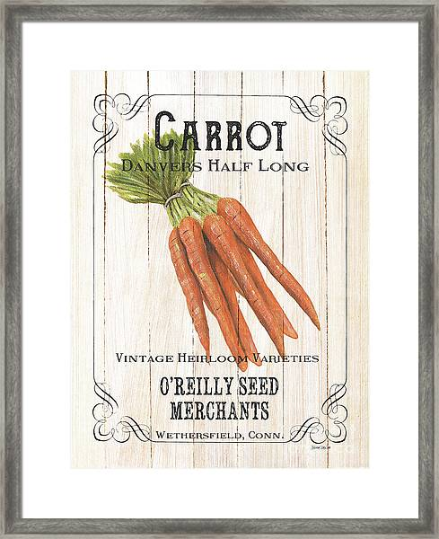 Organic Seed Packet 2 Framed Print