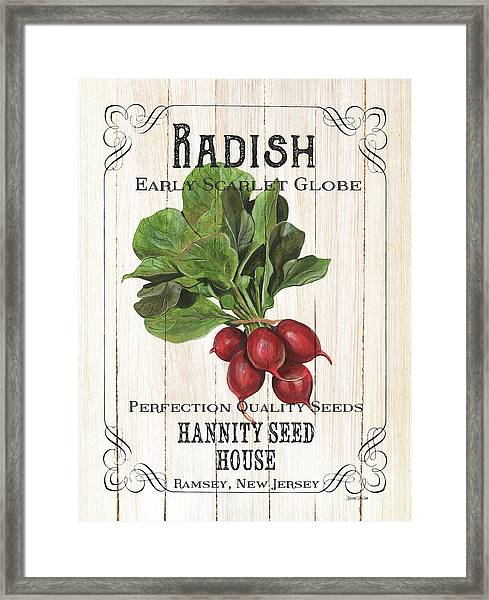Organic Seed Packet 3 Framed Print