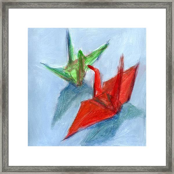 Origami Cranes Framed Print