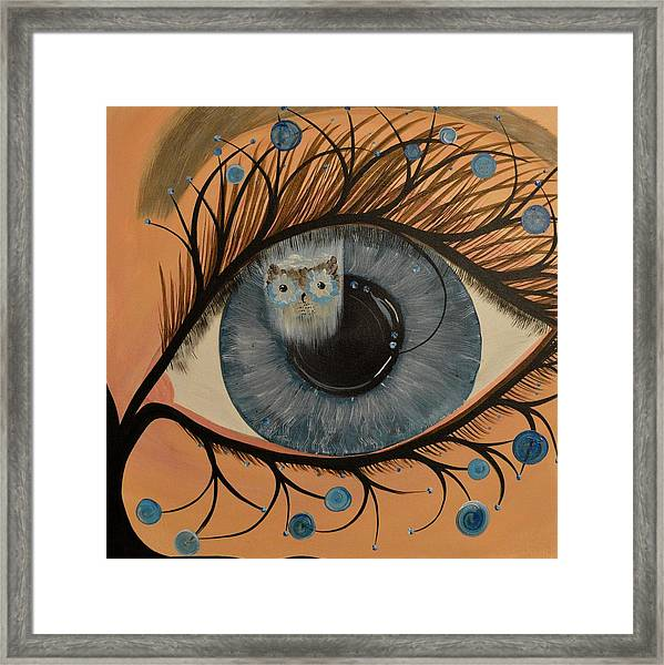 Original Acrylic Artwork By Mimi Stirn - Hoomasters Collection Hoodali #412 Mimi's Self Portrait Framed Print