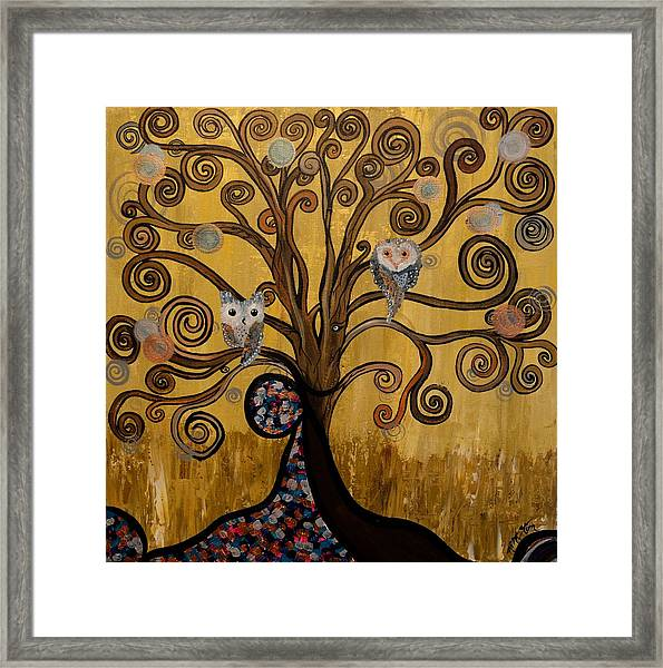 Original Acrylic Artwork By Mimi Stirn - Hoomasters Collection -hooklimt #414 Framed Print