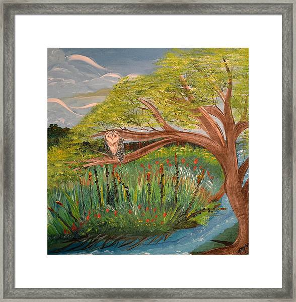 Original Acrylic Artwork By Mimi Stirn - Hoomasters Collection Hoomonet #413 Framed Print