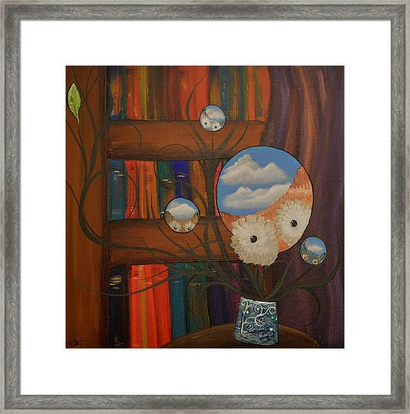 Original Artwork By Mimi Stirn - Hoomasters Collection - Hoo Magritte #411 Framed Print