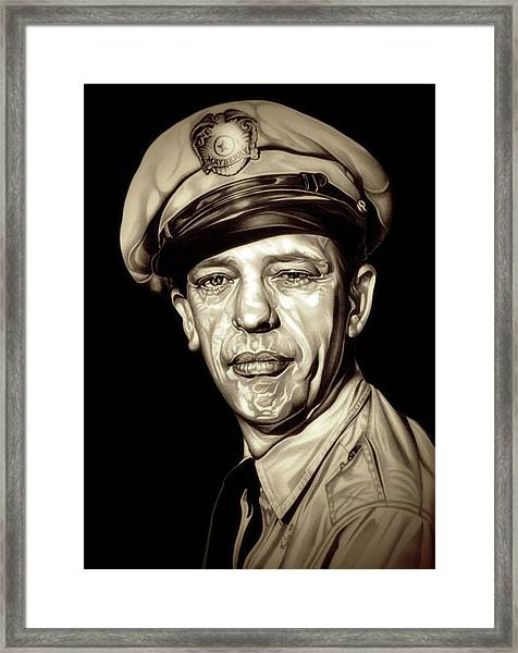 Original Barney Fife Framed Print