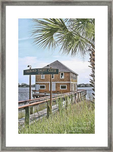 Ormond Yacht Club Framed Print