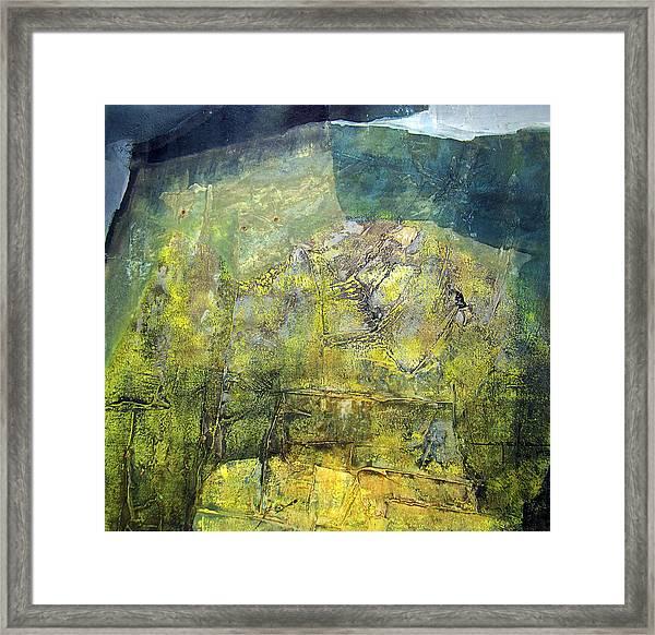 Os1959ar015ba Abstract Landscape Of Potosi Bolivia 20.9 X 21.9 Framed Print by Alfredo Da Silva