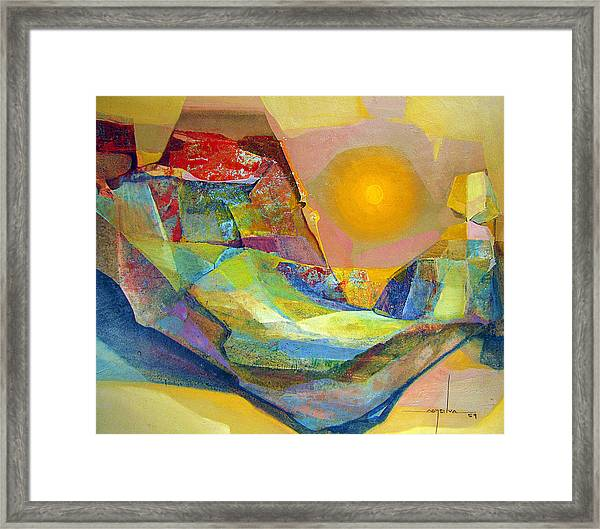 Os1959bo005 Abstract Landscape Potosi 22.75x18.5 Framed Print by Alfredo Da Silva