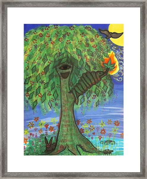 Osain Tree Framed Print