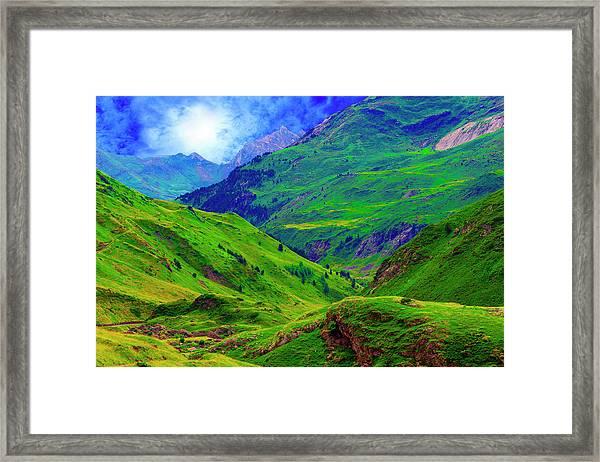 Ossue Mountains Framed Print