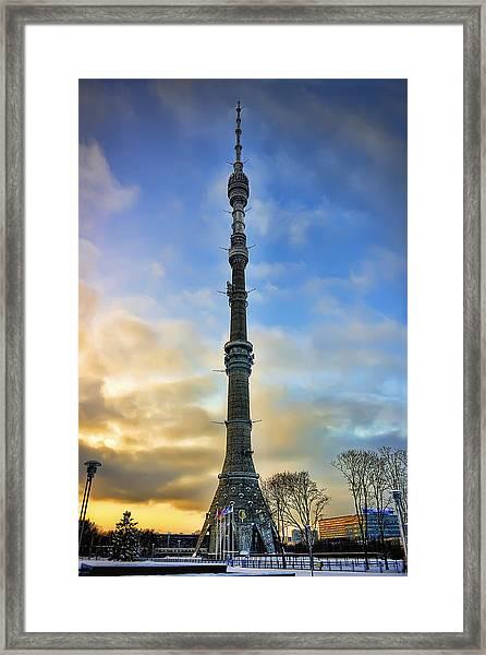 Ostankino Tower Framed Print